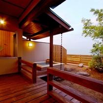 【露天kajitsu】アルプスの山々を眺めながらの開放感あふれる露天風呂