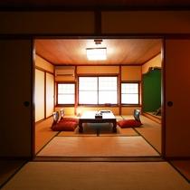 【本館yurari】二間タイプの竹の間は、洗面トイレ付き