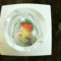 【夏料理】【造り】黒川鱒 活蛸洗い 他 あらい一式