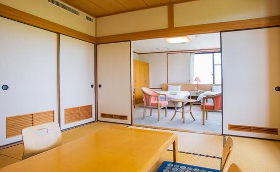 和洋室◆川側◆51平米【ベッド110cmx195cm】