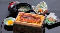 【夕食】国産うなぎのセイロ蒸し御膳