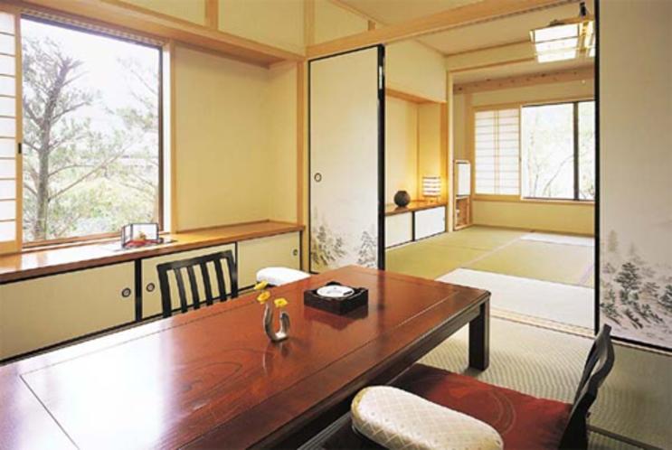 【離れ】半露天風呂付客室「つばき」