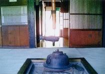 囲炉裏のある食堂