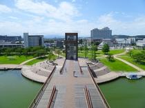 【当館より徒歩25分】富岩運河環水公園カナルパーク