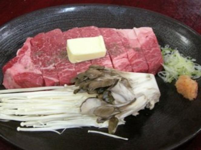 黒毛和牛のステーキ