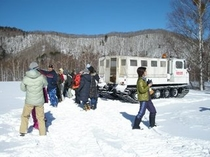 雪上車の雪うさぎ