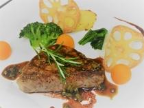 信州牛ロース肉のわさびステーキ