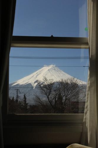 ツインルーム富士山側 部屋からの眺望