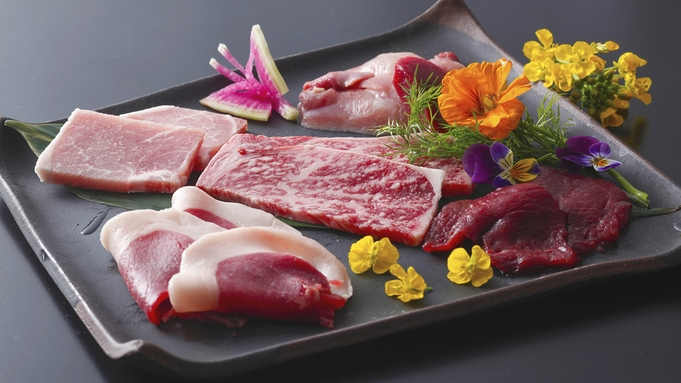 【特選−お肉の5種食べ比べ会席】こだわり派納得!〜じゅわっと広がる炙り肉の旨みを堪能〜