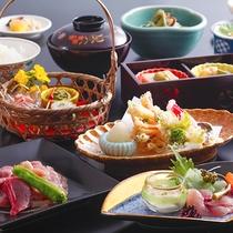 【美山会席-梅-】その時期おいしい食材を、色鮮やかに仕上げました