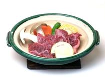 【通年料理】【黒毛和牛の陶板焼】