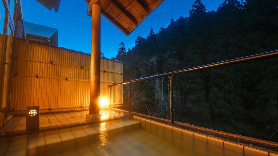 """【露天風呂】美山の大自然×夕景は、まさに""""癒しの空間"""""""