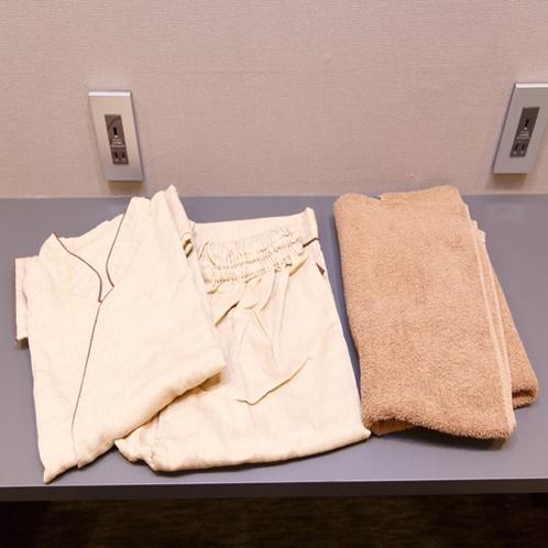 作務衣、バスタオル、フェイスタオル