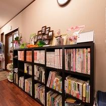 *ペット関連の本はもちろん、様々なジャンルの本を置いています。旅先での空き時間にどうぞ。