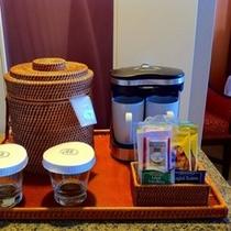 ■客室アメニティのコーヒー&ティー