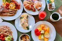レインボー ラナイ 朝食ビュッフェ 一例