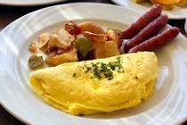 レインボー ラナイ 朝食 オムレツ 一例