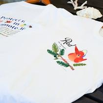 *思い出の一品に。アカショウビンプリントのオリジナルTシャツ