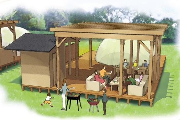 ◆夏限定【グランピング】リゾート気分で至福のひと時を〜国産牛ステーキBBQ☆スタンダード【Aコース】