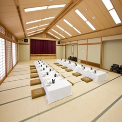 和宴会場『30畳〜100畳の大広間までございます。』