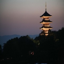 吉備路の象徴  備中国分寺 五重塔