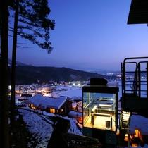展望台からの景色(冬)
