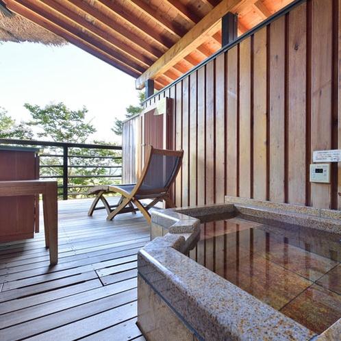 客室露天風呂【本館】欅タイプ(桜の間)田園風景を眺めながら湯浴みを楽しむ