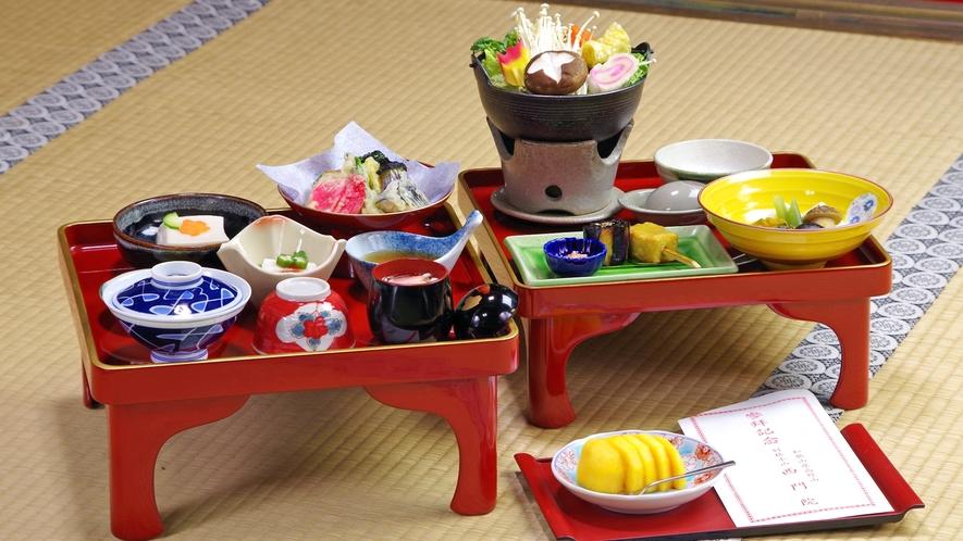 *【お食事(一例)】高野山の四季と伝統の味が味わえる「精進料理」です。