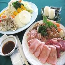 【BBQセット一例】テラスでジュ〜ジュ〜焼いて楽しい♪食べておいしい♪絶品BBQ!