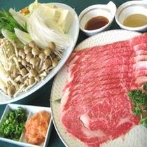 【牛しゃぶセット一例】地元黒田庄牛をオリジナルの出汁で召し上がれ♪