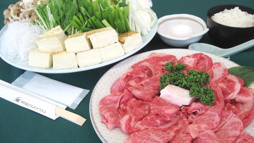 *【すき焼きセット一例】やわらか〜いお肉を定番のすき焼きでどうぞ♪