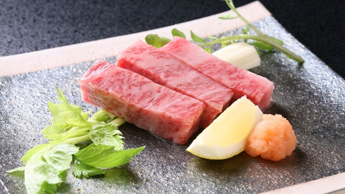 【Wだと500円オトク】《和牛ステーキ》&《ウニ+肉の「うにく」鍋》付−夏会席(お部屋食)