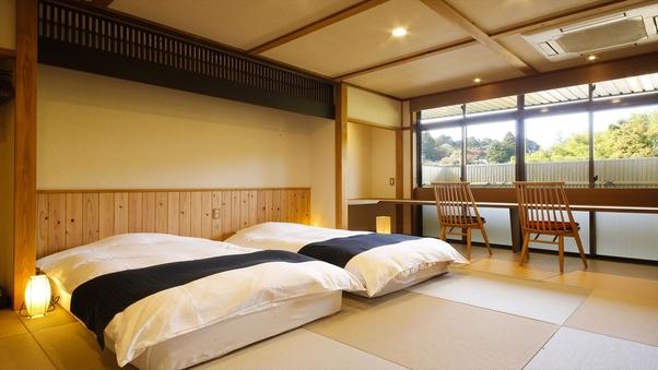 琉球畳の10畳和室 ローベッドツイン ☆禁煙室☆
