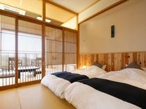 ZEKKEIパノラマコーナービューの寝室。2017年春完成