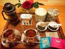母娘プラン特典の紅茶バー