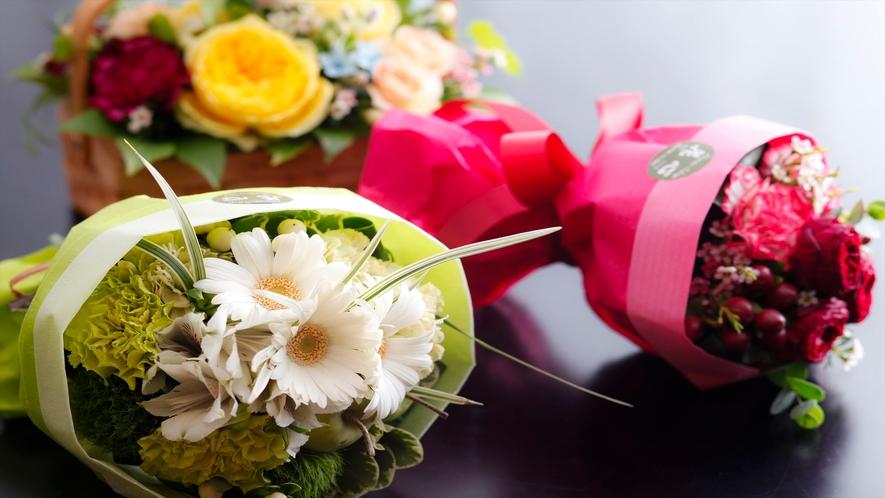 花束(アレンジメントも選択可)はお色のご希望承ります