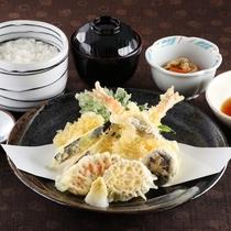 *レストランメニュー【昼】/天ぷら定食 1,100円