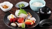 *レストランメニュー【昼】/刺身定食 1,500円(税込)