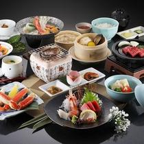*贅沢華会席/当館料理長のおすすめする、北海道の海の幸をふんだんに使った和会席。