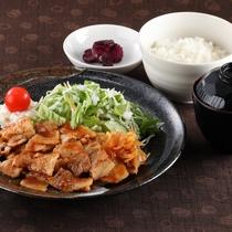 *レストランメニュー【昼】/生姜焼き定食 900円