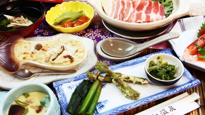 【夕食のみ】こだわりの北海道素材!山の幸をリーズナブルに楽しむ「山菜たっぷり鍋コース」☆<個室食>