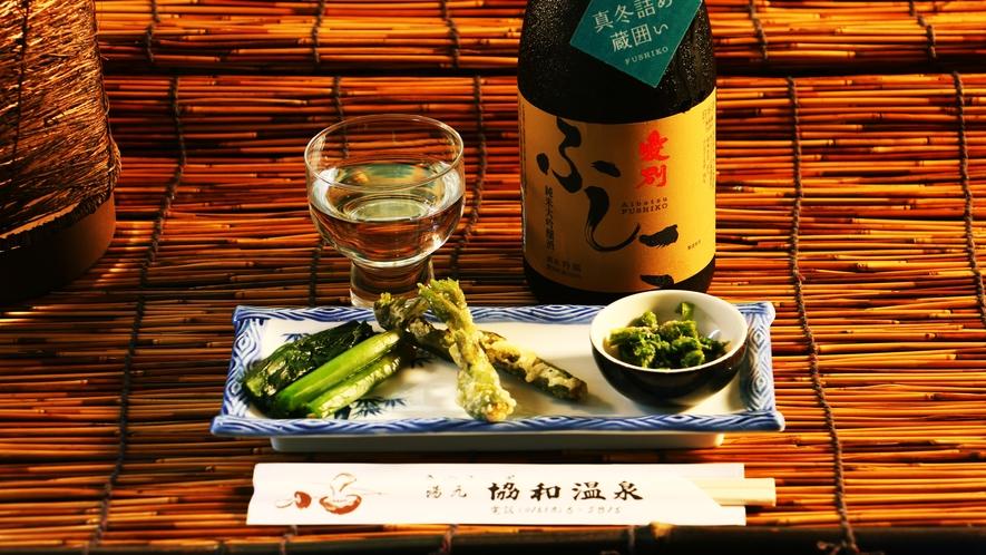 ■飲み物_きのこ料理、山菜料理と一緒にお飲みください♪