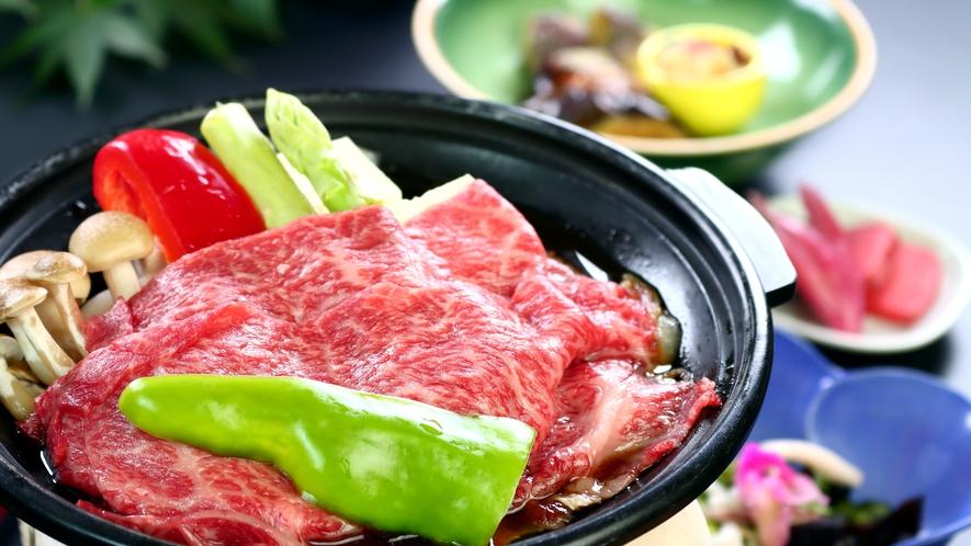 夕食一例◆飛騨牛陶板焼