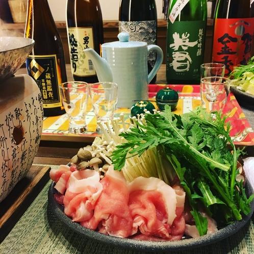 しゃぶしゃぶと日本酒