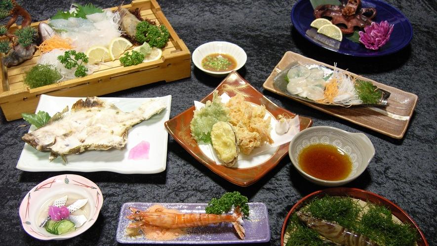 *【夕食】獲れたての島グルメをご堪能下さい。お部屋食です。