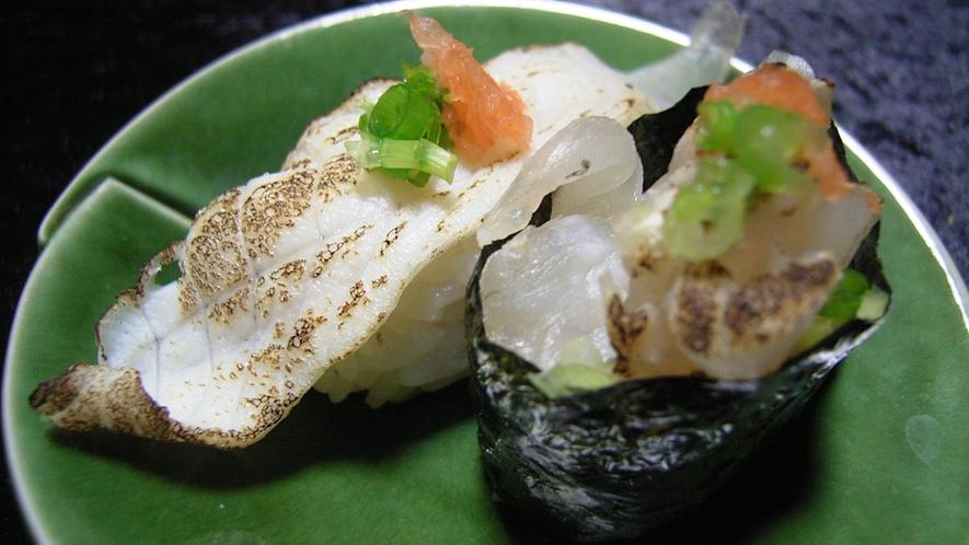 *【冬グルメ】ふぐ寿司 炙りも美味しいですよ〜