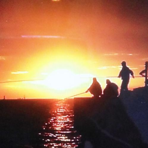 お客様から頂いた日間賀島の夕日(*素敵な画像のご提供ありがとうございます。)