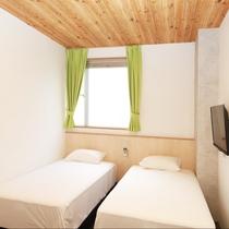 ツインルーム【禁煙】:新しいお部屋が完成致しました!スタイリッシュなお部屋で快適にお過ごしください。