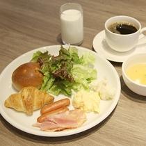 朝食一例:洋食