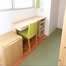 ツインルーム・ロフト付:広々ロフトが付いたお部屋。